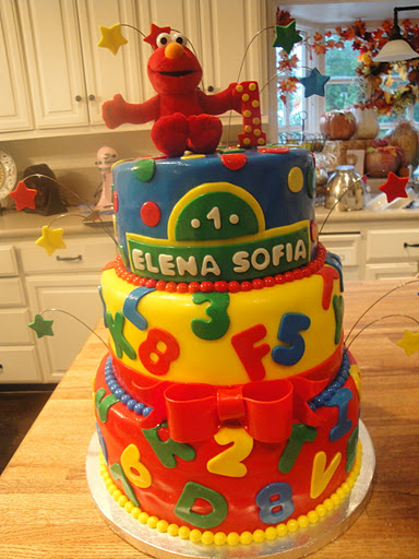 Elmo Birthday Cake Lrg Cakes By Nathalie