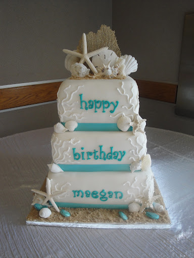 Seashell Beach Birthday Cake Cakes By Nathalie