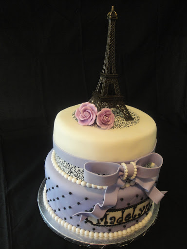 Cake Images With Name Pari : Lavender Paris Themed Baby Shower Cake Cakes by Nathalie